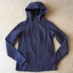Lululemon Scuba Hoodie sweatshirt IV blue sz 6